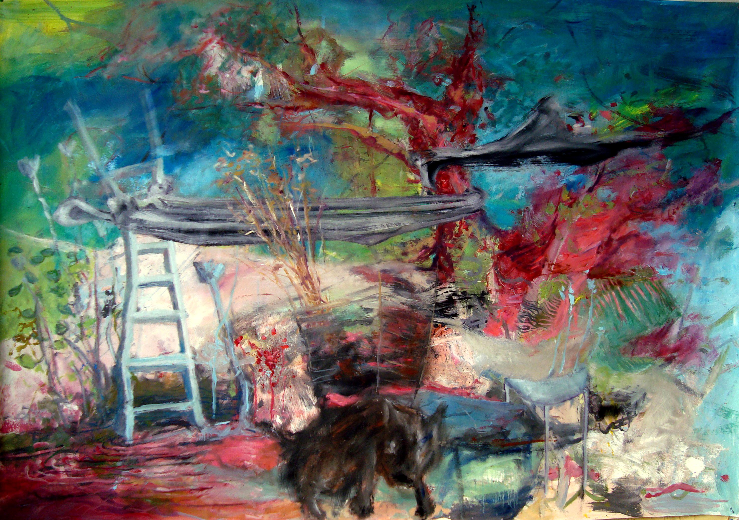 Horizons d'énigme-Oublié n°3, 2016 mixte sur toile libre, 130 x 195 cm