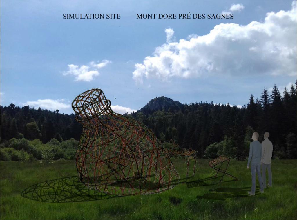 """simulation site mont dore pré des sagnes, """"élévation"""", projet 1, """"émergence"""""""