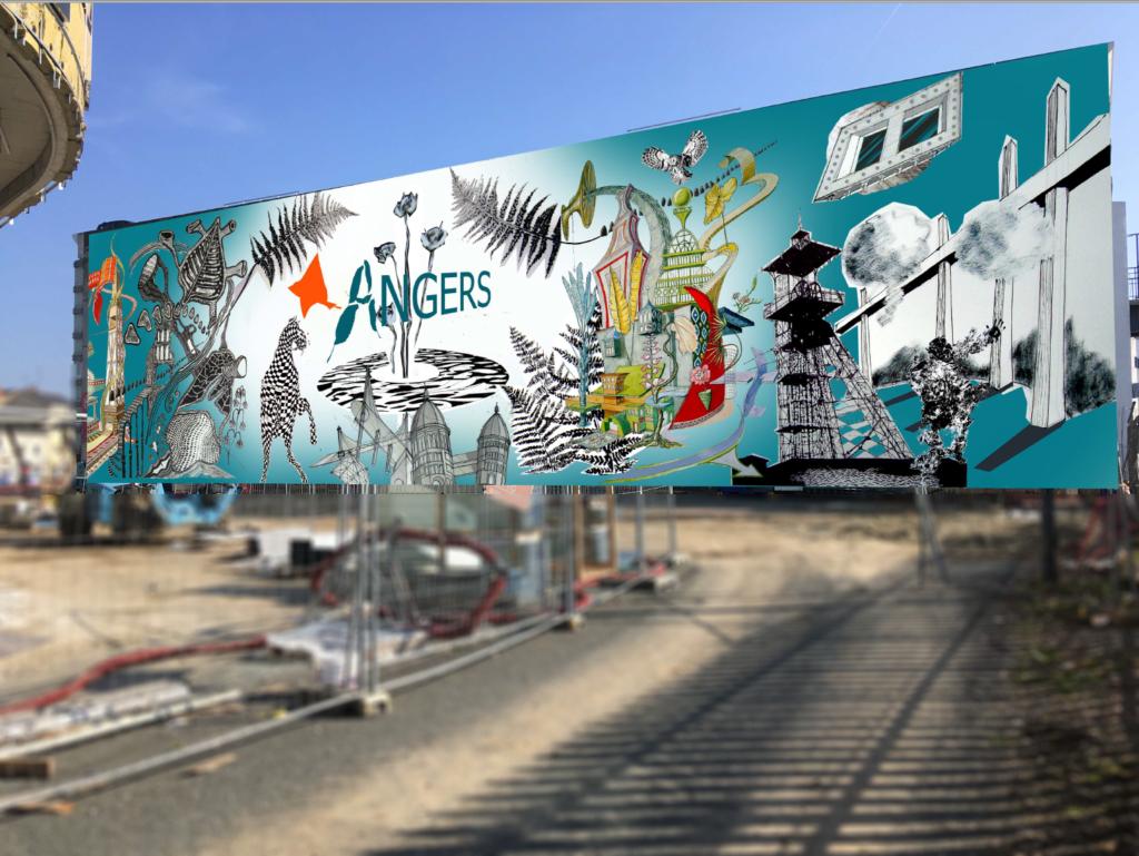 Fresque de la gare d'Angers st Laud