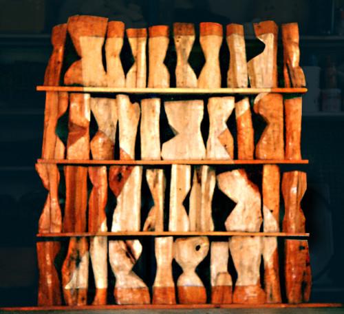Abécédaire, 2002, bois, 160x160x25 cm