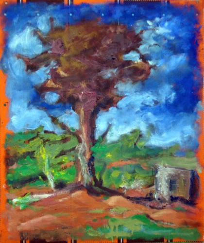 Arbre-2007-mixte-sur-toile-65x50-cm