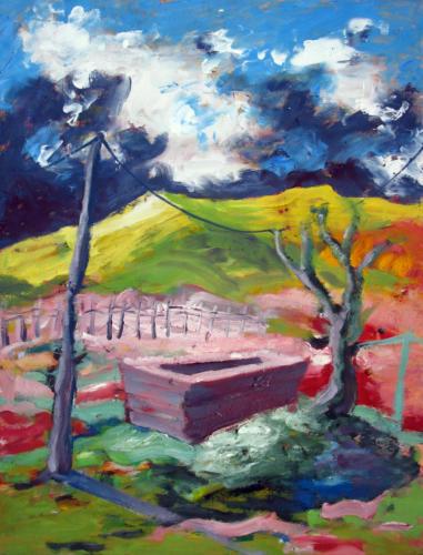 Arcadie-n°4-2007-mixte-sur-carton-70x55-cm