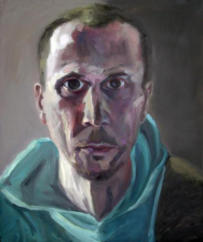 Autoportrait 2, 2018, huile sur toile, 65 x 54 cm