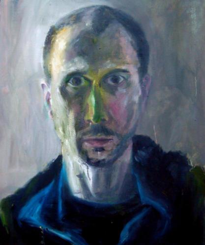 Autoportrait 1, 2018, huile sur toile, 65 x 54 cm