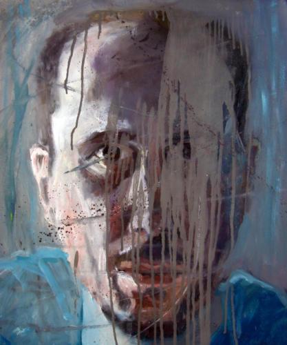 Autoportrait 4, 2018, huile sur toile, 65 x 54 cm