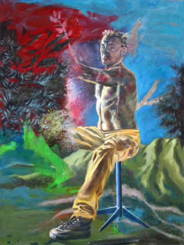 Autoportrait-à-la-coline-2007-mixte-sur-toile-130x97-cm