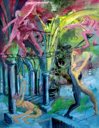 Bataille ridicule, 2018, huile sur toile, 138 x 106 cm 3