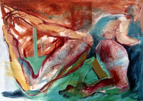 Corps n°3, 2003, mixte sur toile, 106x150 cm