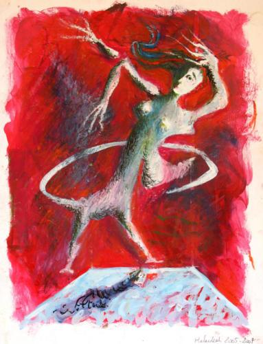 Danse, 2007, mixte sur papier, 32x25 cm