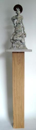 D'après Rodin, 2017, bois, plâtre, métal, 145 x 30 x 30 cm