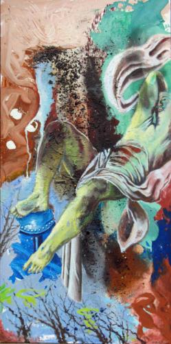Daprès-TItien-2007-mixte-sur-toile-195x97-cm
