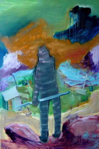 Etranger, 2016, mixte sur medium, 122 x 80 cm