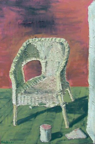 Fauteuil n°1, 2003, mixte sur toile, 150x100 cm