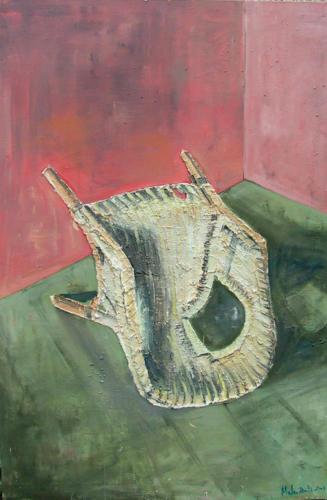Fauteuil n°2, 2003, mixte sur toile, 150x100 cm