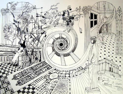 Je connais un raccourci, 2012, encre sur papier, 50x65 cm