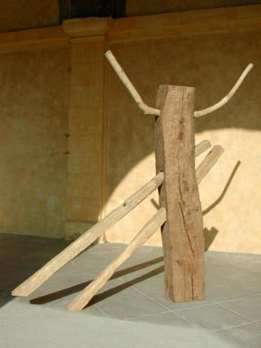 Labour, 2002, bois, 160x170x25 cm