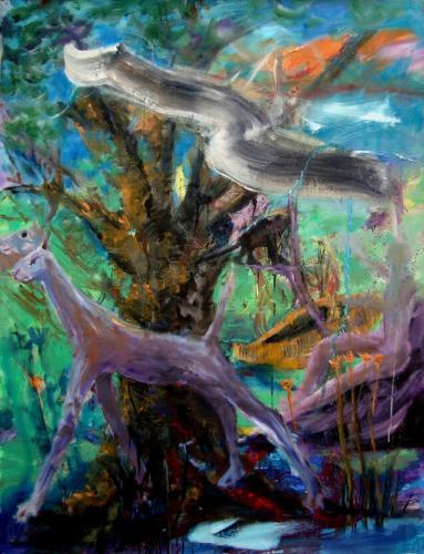 Le vent, 2018, huile sur toile, 138 x 106 cm 8