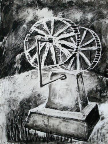 Machinerie, 2006, encre sur papier, 30x21 cm