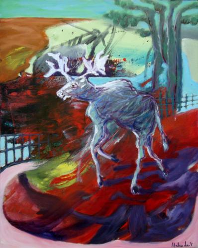 Orignal, 2013, mixte sur toile, 50 x 40 cm