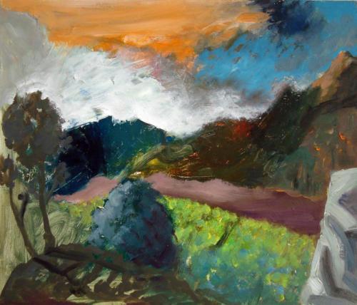Paysage, 2012, huile sur isorel, 32x38 cm