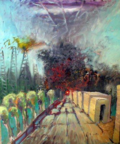 Paysage-ferroviaire-2007-mixte-sur-toile-65x54-cm