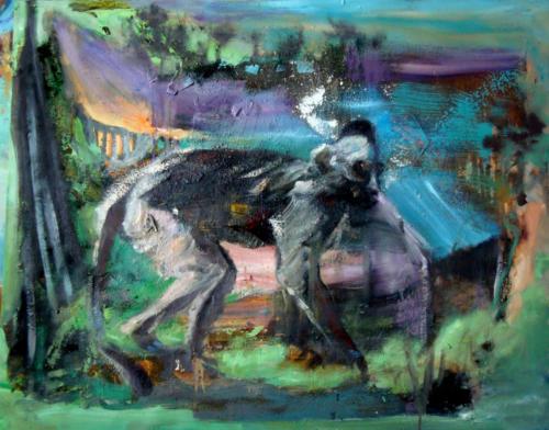 Perdu n°2, 2017, mixte sur toile, 92 x 115 cm