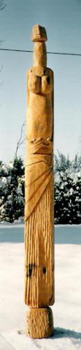 Personnage, 1999, bois, 140 x 20 x 20 cm