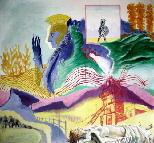 Rêve antique, 2006, huile sur papier, 140x150 cm