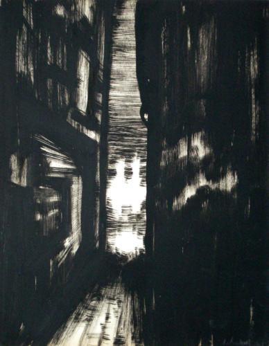 Ruelle, 2006, encre sur papier, 32x25 cm