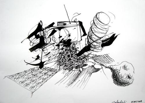 Sans titre 2, 2008, encre sur papier, 20x30 cm