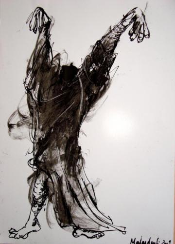 Sorcier, encre sur papier, 30x21 cm