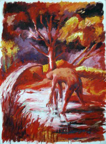 Sous-bois-2-2008-huile-sur-papier-150x110-cm