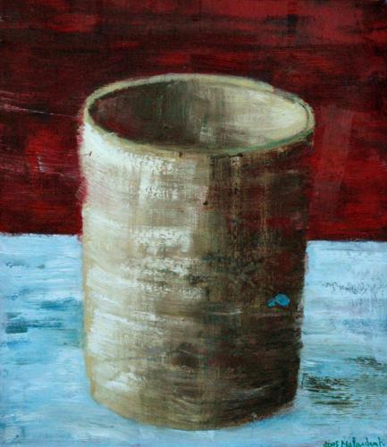 Tube, 2004, huile sur toile, 50x40 cm