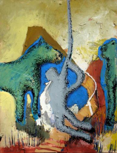 Un spectacle inversé, 2007, mixte sur papier, 32x25 cm