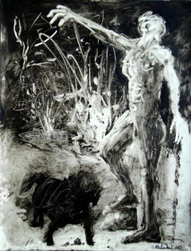 sorcellerie, 2015, encre sur transparent, 65 x 50 cm