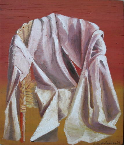 Fauteuil n°7, 2006, huile sur bois, 25x21 cm