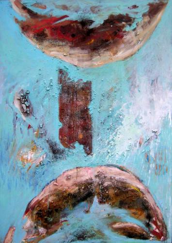 Paysage miroir, 2006, mixte sur toile, 155x110 cm
