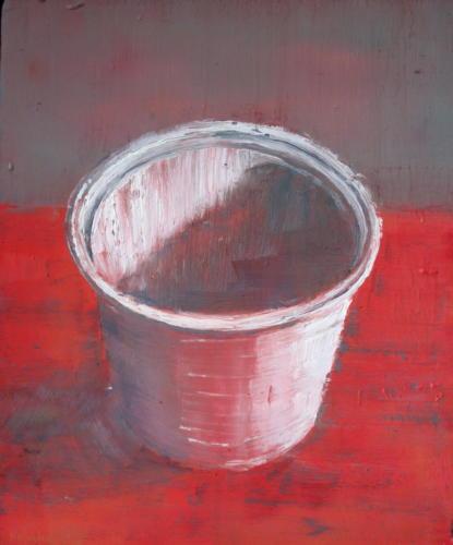 Pot n°5, 2006, huile sur bois, 37x30 cm