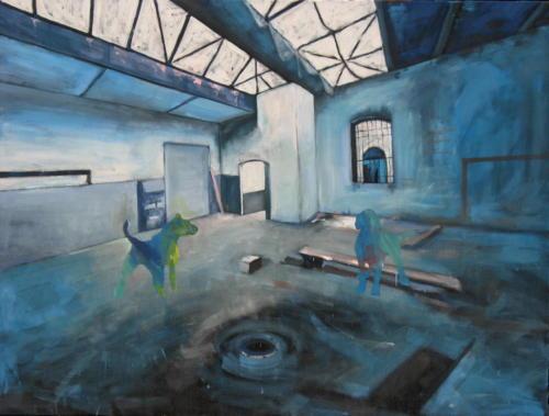 Sas n°1, 2006, mixte sur toile, 130x97 cm